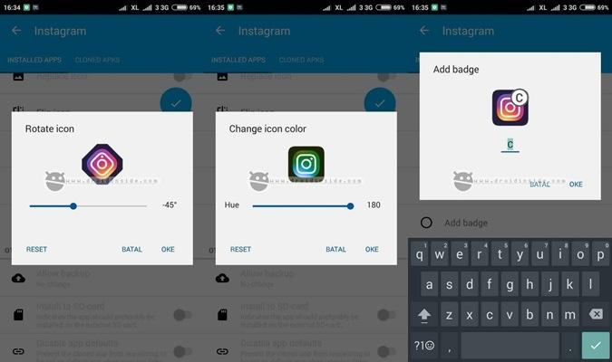 langkah app cloner