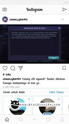instagram app bug