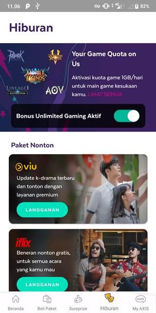 Cara Mengaktifkan Paket Unlimited Game Axis