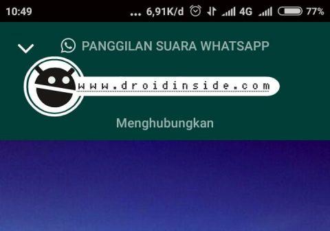 Telpon Whatsapp Menghubungkan Terus