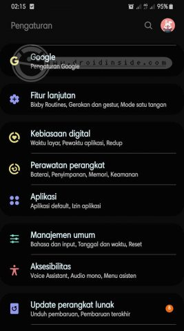cara update samsung galaxy a70 android 10