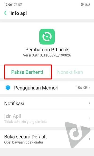 mematikan update oppo f9