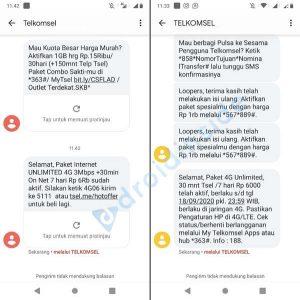 sms paket unlimited telkomsel 4g
