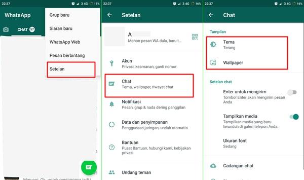 ubah wallpaper chat whatsapp