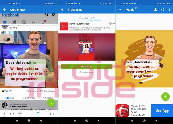 aplikasi kartun wajah android ToonMe