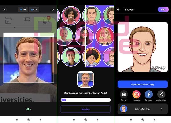aplikasi mengubah wajah jadi kartun ToonApp