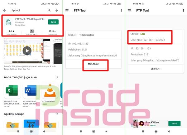 cara transfer file dari pc ke android via wifi