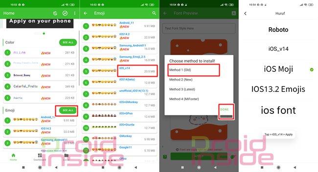 cara mengubah emoji redmi menjadi emoji iphone