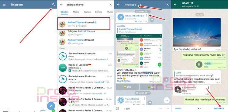 cara mengganti tema telegram seperti whatsapp