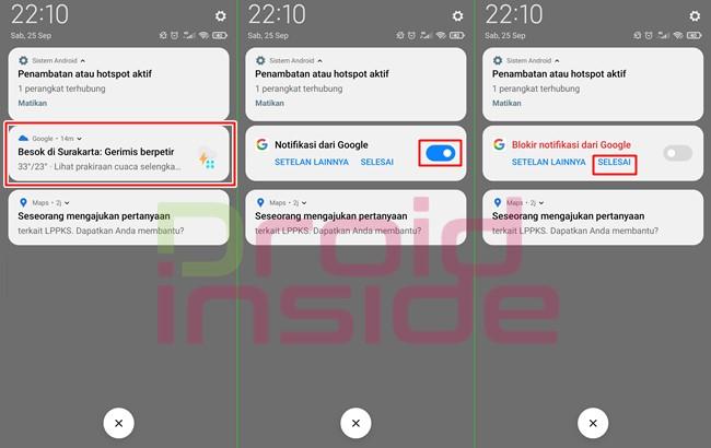 cara menghilangkan notifikasi cuaca di android