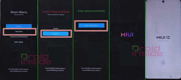 cara downgrade MIUI 12.5 ke MIUI 12.0 Poco X3 Pro
